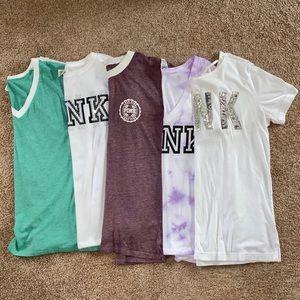 PINK Victoria's Secret T-Shirt Collection Sz Sm